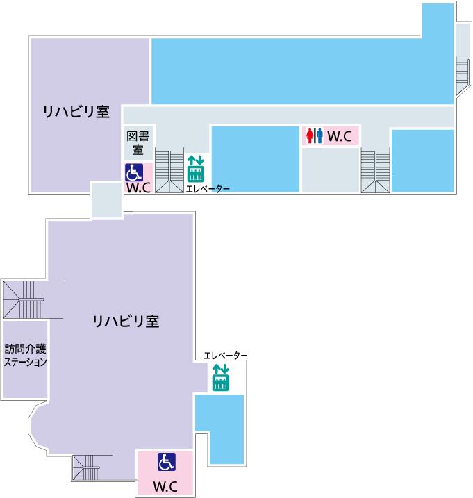 菅整形フロア図-2F