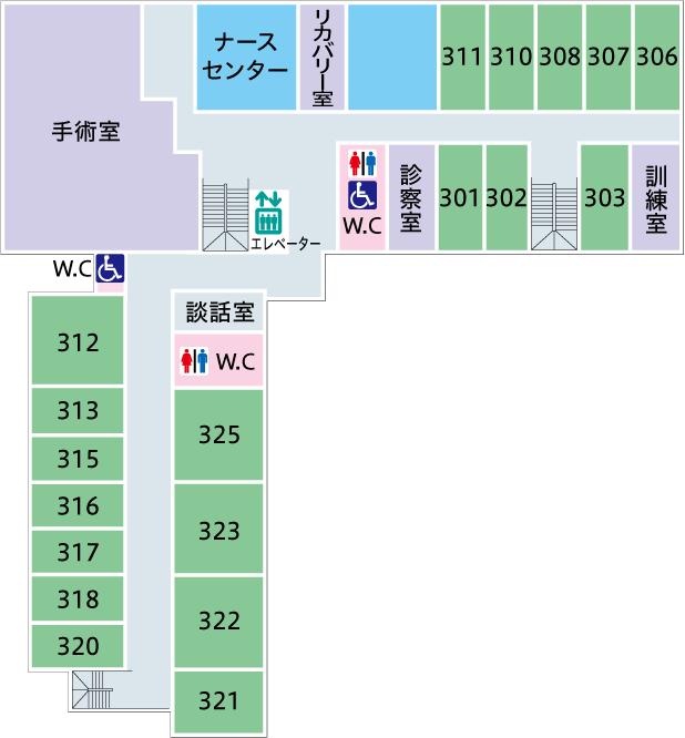 菅整形フロア図-3F