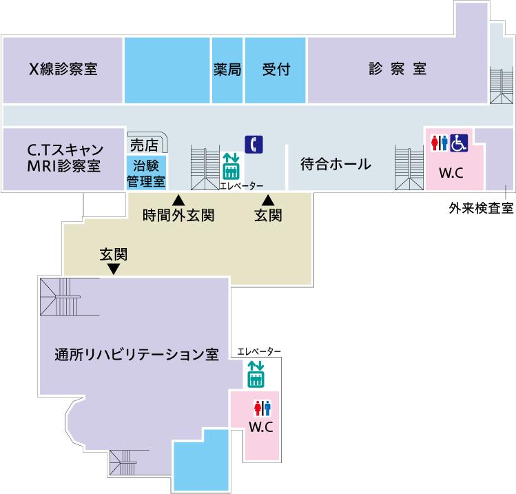 菅整形フロア図
